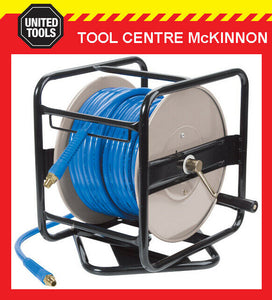 ITM TRADEMASTER 30m SWIVEL BASE MANUAL AIR HOSE REEL – 8mm 30m PVC BRAIDED HOSE