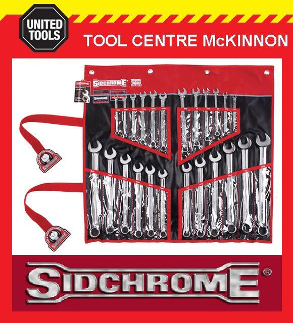 SIDCHROME SCMT22104 24pce RING & OPEN END METRIC & A/F SPANNER SET