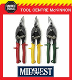 MIDWEST AVIATION TIN SNIPS – 3 PIECE SET – STRAIGHT, LEFT & RIGHT CUT