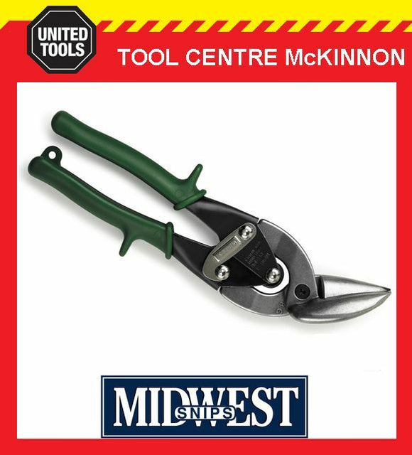 MIDWEST OFFSET RIGHT CUT AVIATION TIN SNIPS – MADE IN USA