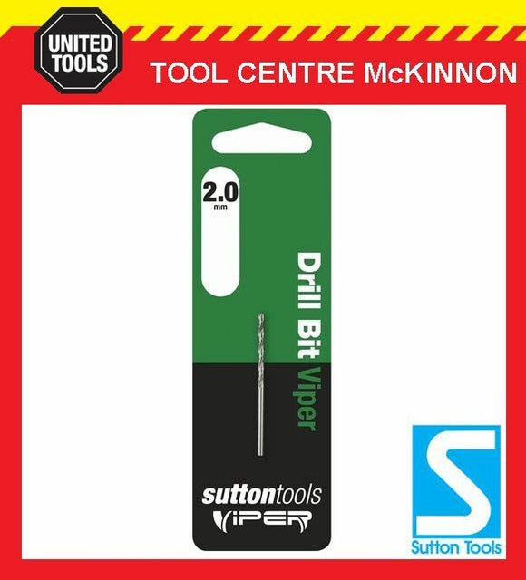 SUTTON VIPER 2.0mm HSS METRIC JOBBER DRILL BIT – WOOD, METAL & PLASTIC