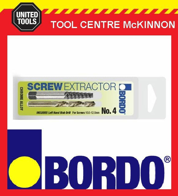 BORDO #1 SCREW EXTRACTOR WITH LEFT HAND DRILL BIT – SUIT 4–4.5mm SCREW / BOLT