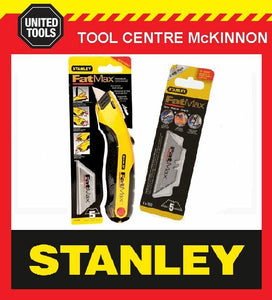 STANLEY FAT MAX RETRACTABLE KNIFE WITH BONUS BLADES – 10 BLADES!