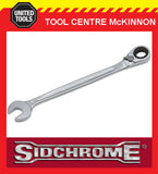 "SIDCHROME SCMT22484 1/4"" PRO SERIES GEARED RING & OPEN END A/F SPANNER"