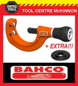 BAHCO 302-76 35-76mm PIPE & TUBE CUTTER WITH 2 SPARE CUTTING WHEELS!