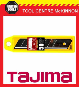50 x TAJIMA ENDURA 18mm SNAP OFF UTILITY KNIFE BLADES – LCB50-50