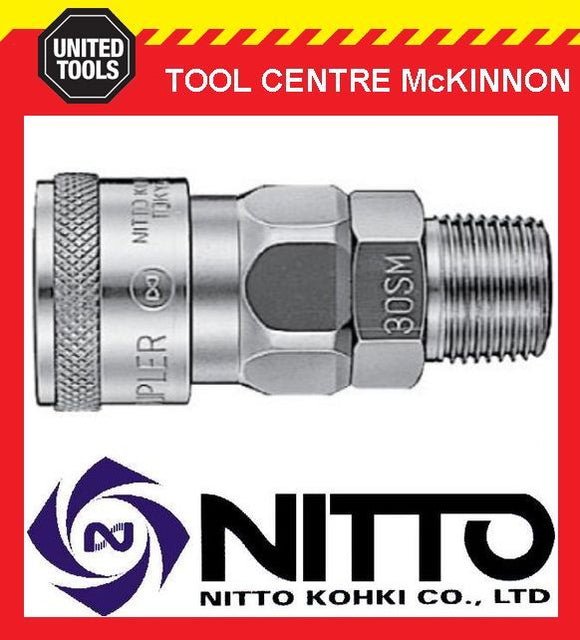 "NITTO FEMALE COUPLING AIR FITTING WITH 1/4"" BSP MALE THREAD (20SM) – JAPAN MADE"