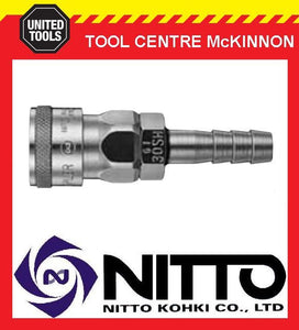 "GENUINE NITTO FEMALE COUPLING AIR FITTING WITH 3/8"" AIR HOSE BARB (30SH) – JAPAN"