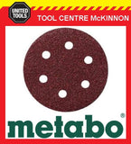 10 x METABO #40 GRIT 80mm 6 HOLE SAND PAPER DISCS / PADS – SUIT SXE400