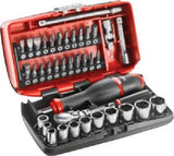 "SIDCHROME SCMT12120 38pce METRIC 1/4"" NANO SOCKET & SCREWDRIVER TOOL SET"