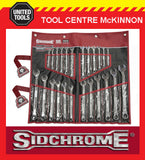 SIDCHROME SCMT22106 440 PRO SERIES 24pce RING & OPEN END METRIC & A/F SPANNER SE