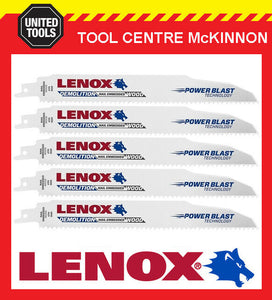 "5 x LENOX 9"" 966R DEMOLITION NAIL EMBEDDED WOOD RECIPROCATING / SABRE SAW BLADE"