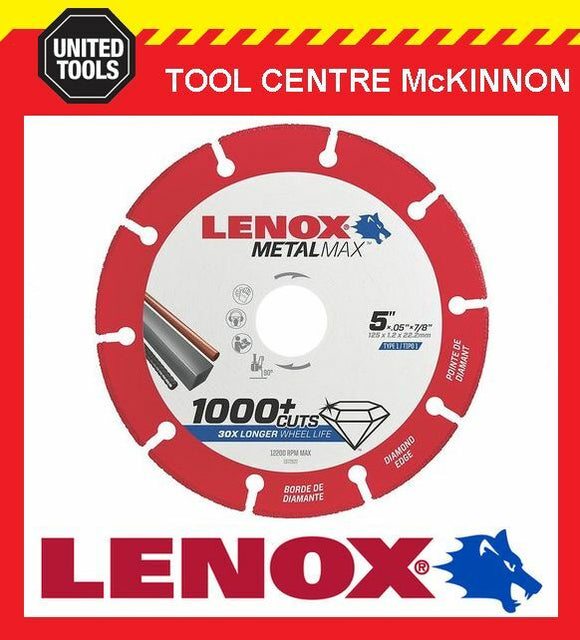 "NEW! LENOX METALMAX 5"" / 125mm METAL CUTTING WHEEL – 1000+ CUTS PER BLADE!"