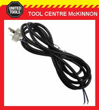 3m 2 CORE 10 AMP FLEXIBLE POWER TOOL REPAIR LEAD WITH CLEAR 3 PIN MOULDED PLUG