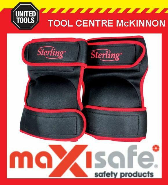 STERLING BY MAXISAFE SOFT COMFI STYLE NON MARKING TWIN STRAP KNEE PADS