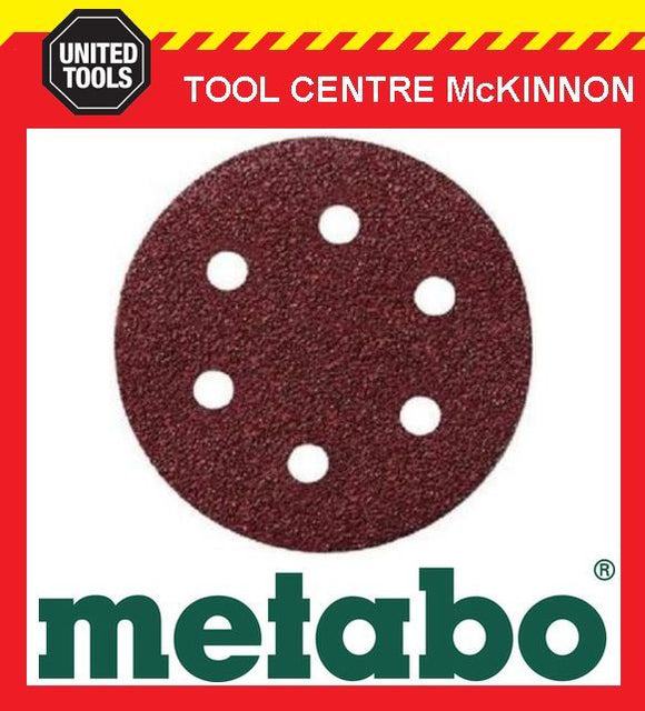 10 x METABO #60 GRIT 80mm 6 HOLE SAND PAPER DISCS / PADS – SUIT SXE400