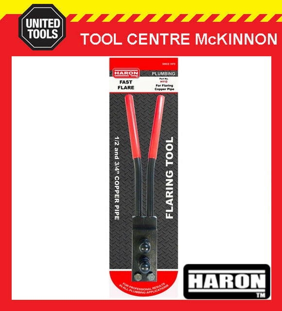 "HARON H112 FAST FLARE ½"" & ¾"" COPPER PIPE / TUBE FLARING TOOL"