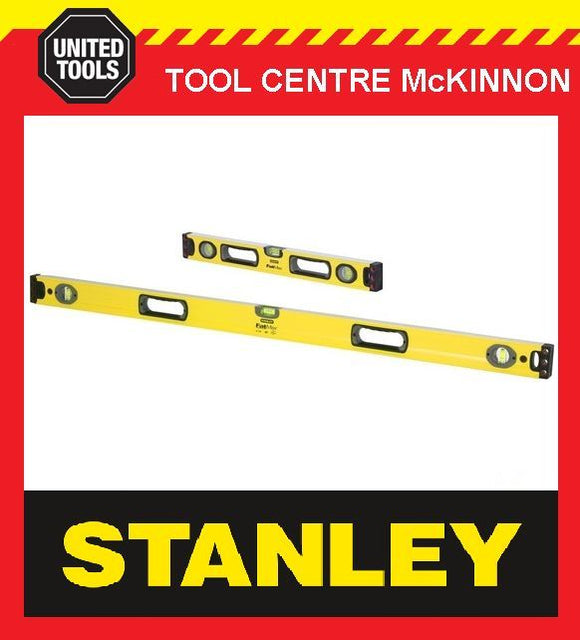 STANLEY FATMAX BOX 2ft / 600mm & 4ft / 1200mm 3-VIAL SPIRIT LEVEL TWIN PACK