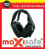 MAXISAFE 'MAXIMUFF' CLASS 5 28dB AS/NZS 1270 SWIVEL CUP COMFORT FIT EARMUFFS