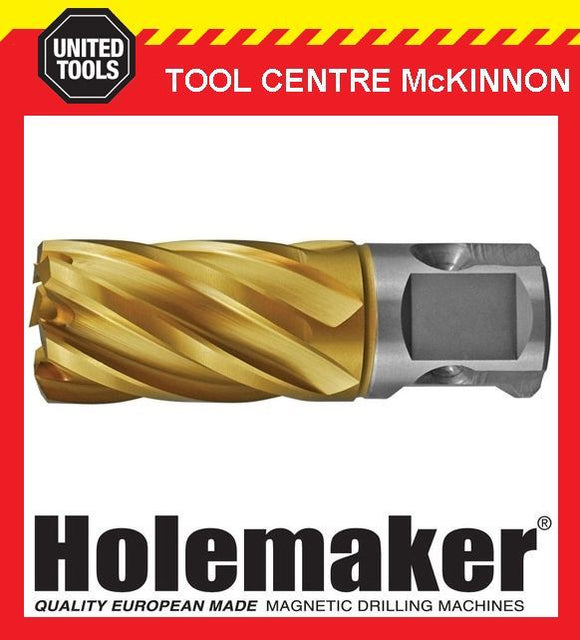 HOLEMAKER 28mm x 25mm UNIVERSAL SHANK GOLD MAG DRILL CUTTER – SUIT MOST BRANDS