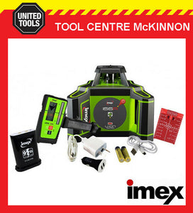 IMEX i66R HORIZONTAL RED BEAM ROTATING LASER LEVEL WITH LRX6 DIGITAL RECEIVER