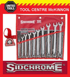 SIDCHROME SCMT22208 10pce RING & OPEN END METRIC SPANNER SET
