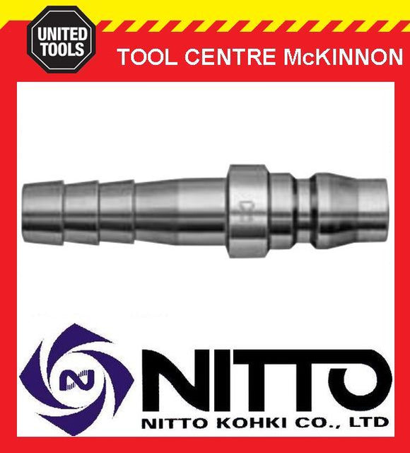 "GENUINE NITTO MALE COUPLING AIR FITTING WITH 3/8"" HOSE BARB (30PH) – JAPAN"