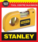 STANLEY 2-VIAL MAGNETIC POCKET SPIRIT LEVEL WIH BELT CLIP