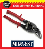 MIDWEST OFFSET LEFT CUT AVIATION TIN SNIPS – MADE IN USA