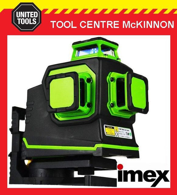 IMEX LX3DR 3-PLANE LITHIUM POWERED RED BEAM LASER LEVEL – 2 YEAR WARRANTY