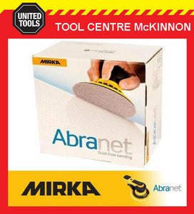 50 x MIRKA ABRANET P120 125mm DUST-FREE ABRASIVE SANDING DISC – SUIT FESTOOL ETC