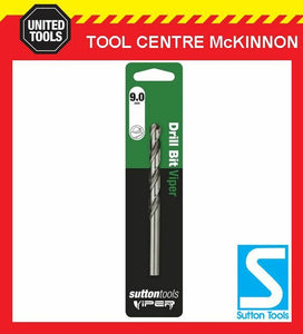 SUTTON VIPER 9.0mm HSS METRIC JOBBER DRILL BIT – WOOD, METAL & PLASTIC