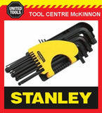 STANLEY 69-9001 12pce LONG ARM BALL POINT HEX / ALLEN KEY SET – A/F