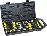 STANLEY 10pce CUSHION GRIP SCREWDRIVER SET IN CARRY CASE