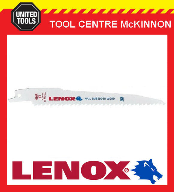 "LENOX 6"" 656R NAIL EMBEDDED WOOD RECIPROCATING / SABRE SAW BLADE"