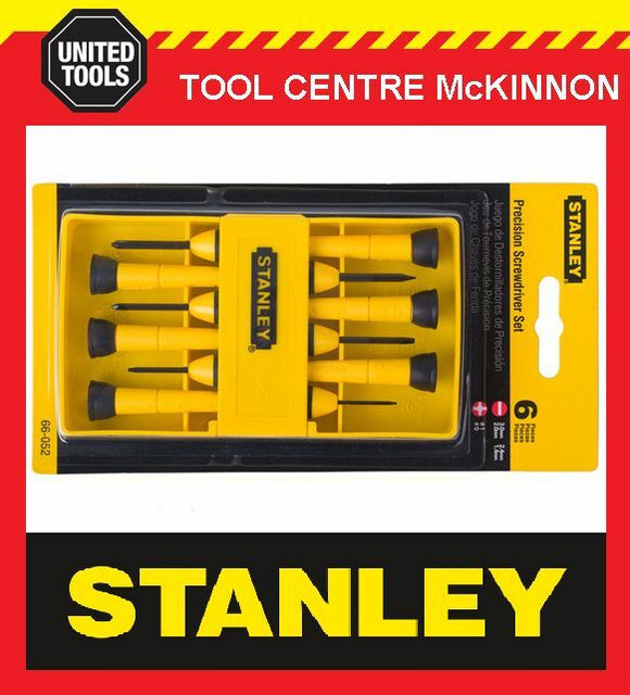 STANLEY 6pce PRECISION SCREWDRIVER SET IN CASE – JEWELLERY, WATCHES, GLASSES ETC