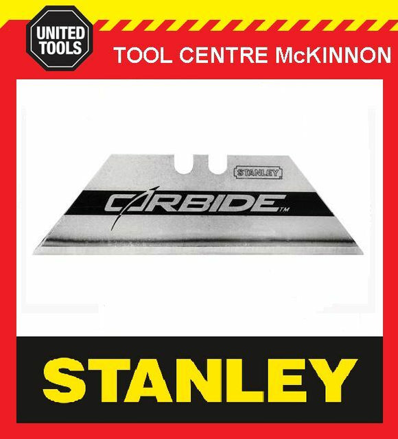 5 x STANLEY CARBIDE TIPPED UTILITY KNIFE BLADES