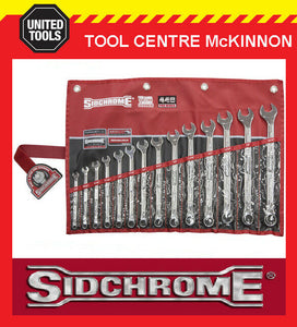 SIDCHROME SCMT22443 440 PRO SERIES 14pce RING & OPEN END A/F SPANNER SET