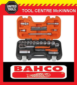 "BAHCO S330 34pce METRIC 1/4"" & 3/8"" SOCKET SET"