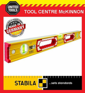 STABILA 1200mm / 4ft 196-2/120 BOX FRAME RIBBED 3-VIAL SPIRIT LEVEL + HAND HOLD