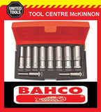 "BAHCO S0810L 10pce METRIC 1/4"" DRIVE DEEP SOCKET SET"