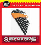 SIDCHROME SCMT29530 9pce LONG ARM BALL POINT HEX / ALLEN KEY SET – METRIC
