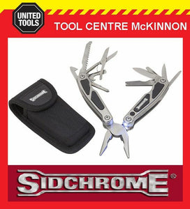 SIDCHROME SCMT70068 15-IN-1 MULTI-FUNCTION TOOL WITH LED LIGHT AND POUCH
