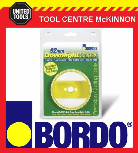 BORDO 92mm TUNGSTEN CARBIDE GRIT EDGE DOWNLIGHT CUTTER