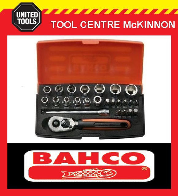 "BAHCO SBSL25 25pce METRIC 1/4"" MINI SOCKET SET"