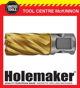 HOLEMAKER 30mm x 25mm UNIVERSAL SHANK GOLD MAG DRILL CUTTER – SUIT MOST BRANDS