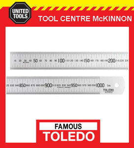 FAMOUS TOLEDO 1000M 1000mm STAINLESS STEEL SINGLE SIDED METRIC RULE