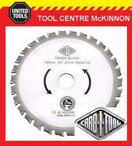 "CARBITOOL 150mm 7-1/4"" 48 TOOTH 20mm BORE METAL CUTTING CIRCULAR SAW BLADE"