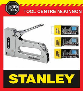 STANLEY TR110 HEAVY DUTY T-50 STAPLE GUN WITH STAPLE ASSORTMENT