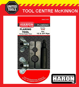 "HARON H106 BLOCK AND PIN TYPE ½"" & ¾"" COPPER PIPE / TUBE FLARING TOOL"